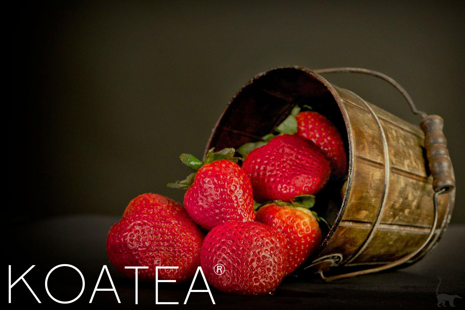 Véritables fraises mûres
