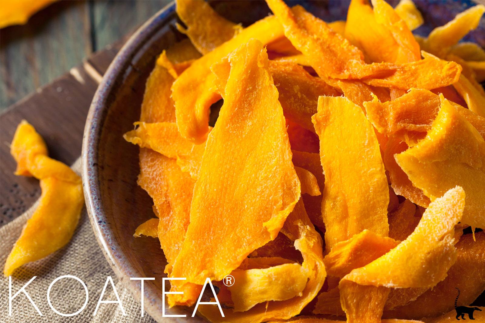 Véritables écorces de mangues sèchées