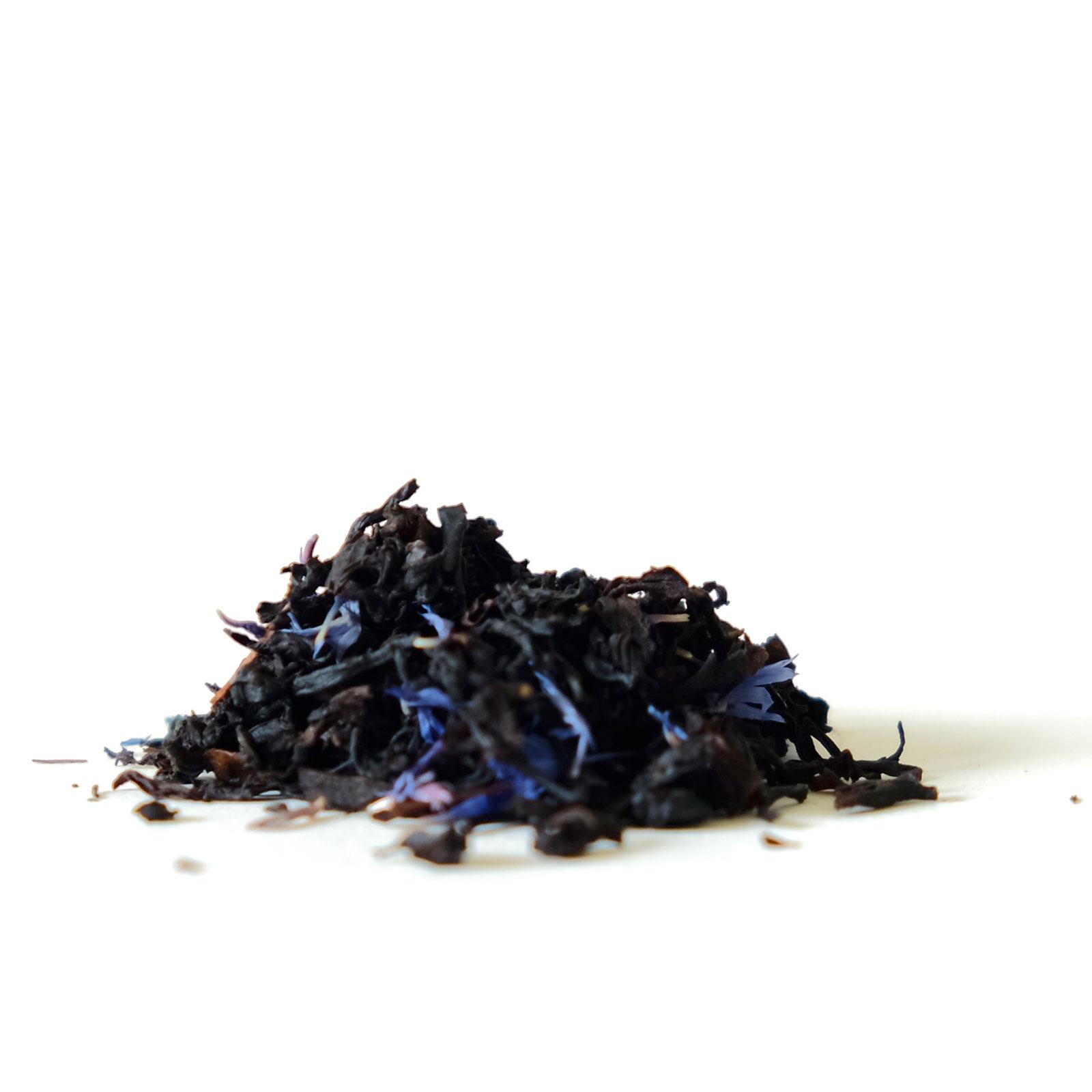 Feuilles de thé noir bio et fleurs séchées