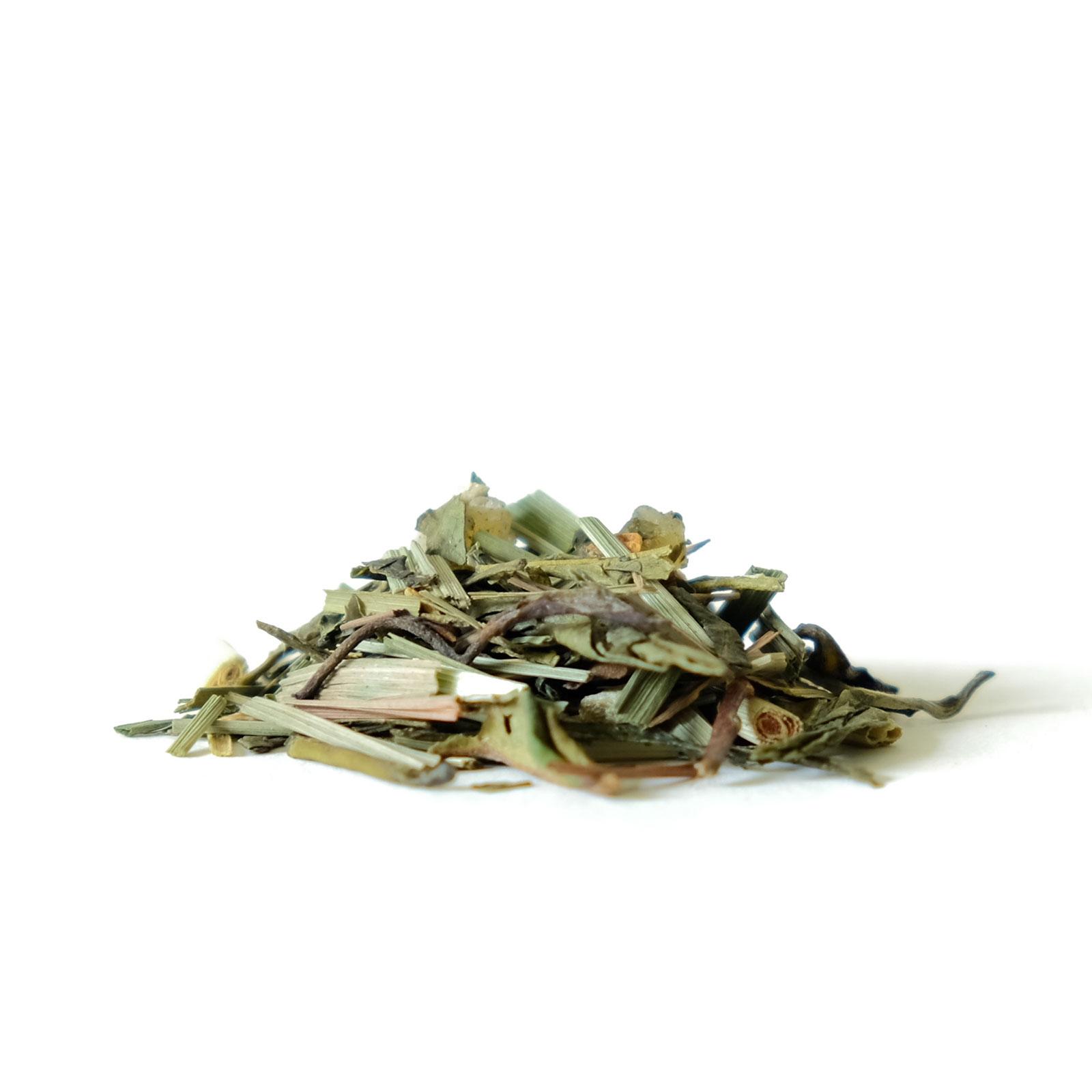 Feuilles de thé vert avec gingembres et citrons confits
