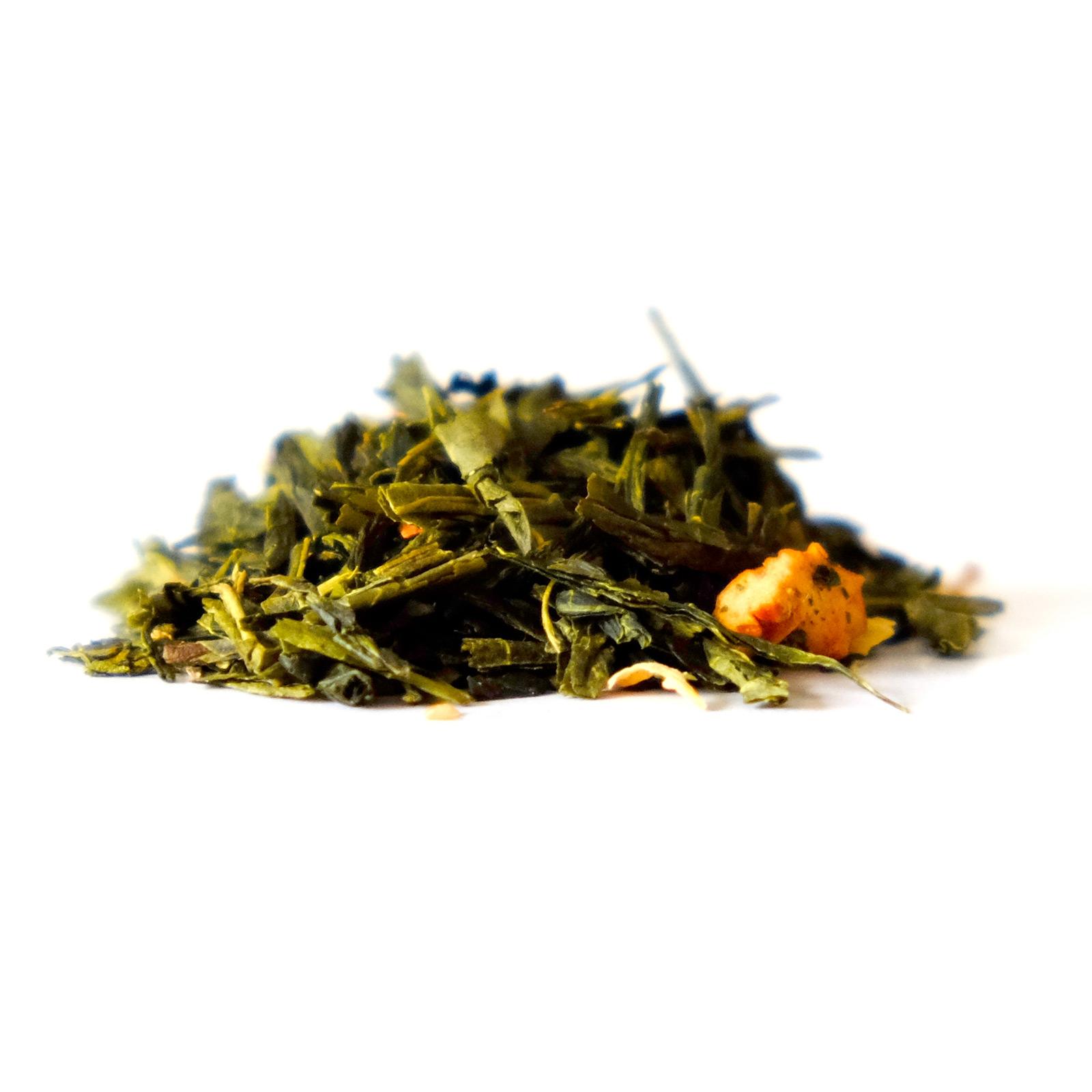 Feuilles de thé vert et pomme caramélisées