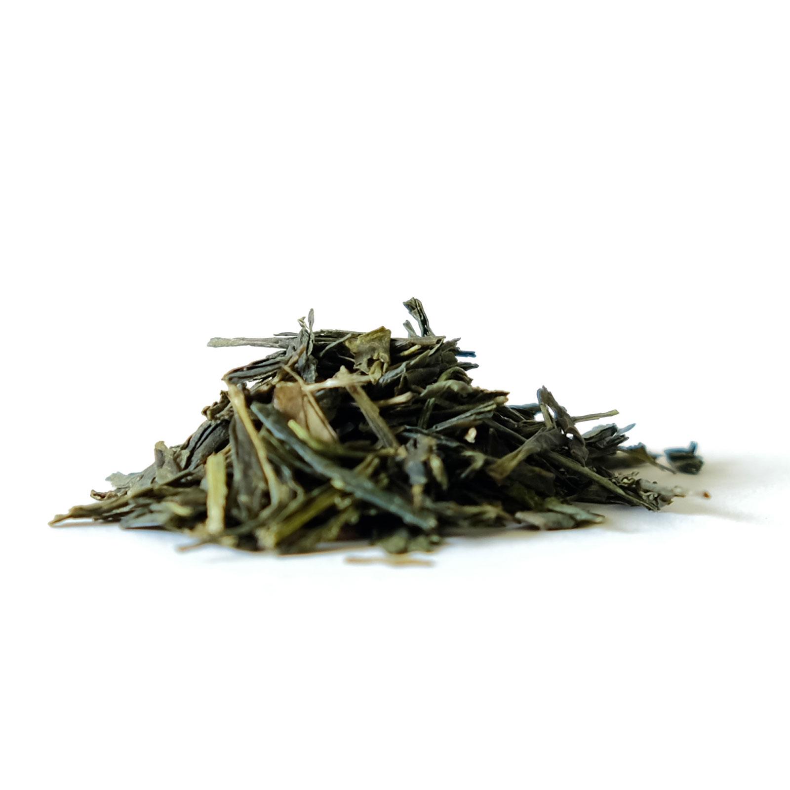 Feuilles de thé vert Sencha bio haute qualité